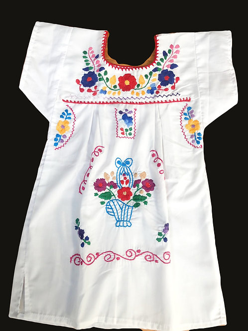 Girls Dress - White