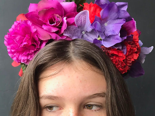 Flower Crown - Reds & Purples