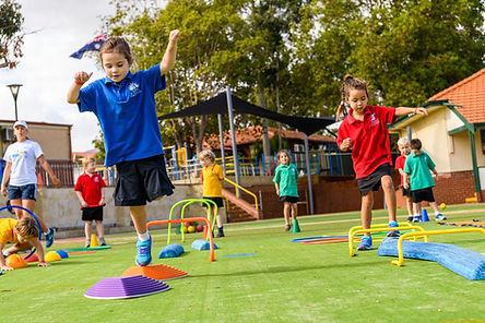 Obstacle Course (run, jump, hop, skip, d