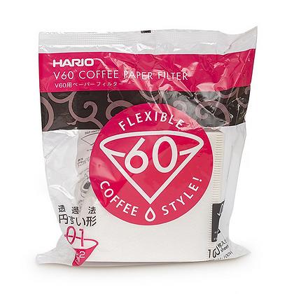 Фильтры для Hario V60 1, 100 шт