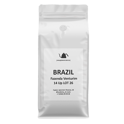 "Кофе в зернах ""Brazil Fazenda Venturim 14 Up LOT 26"""