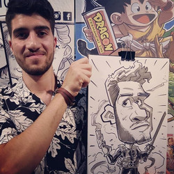 #heroescomicon #madrid #2018 #caricatura