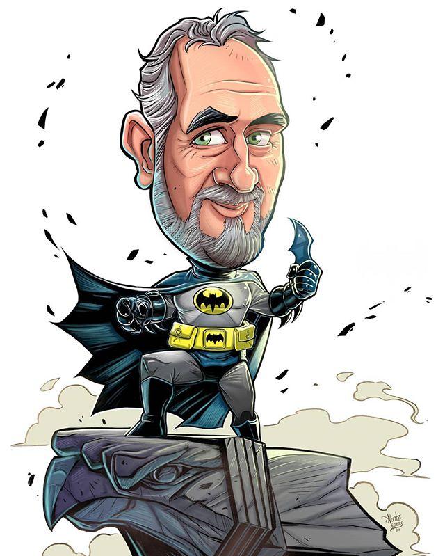 #caricaturadigital #chibi #batman #regal