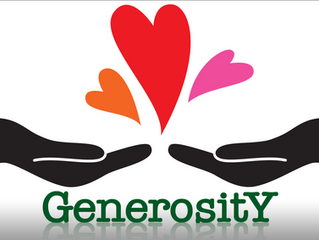 Generosity: A word for now!