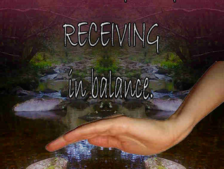 Sacred Reciprocity: The art of giving and receiving.