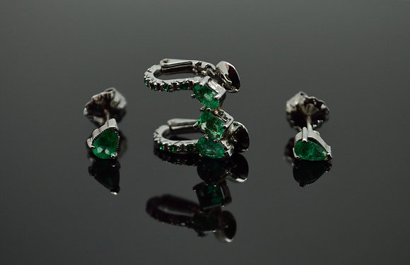 Aros Trío esmeralda