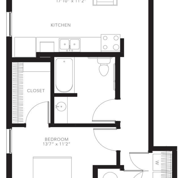A8 Floor Plan - Accessible