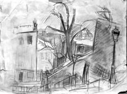 #281 – Escalier à Montmartre – 40x50