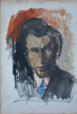 #217 - L'homme à la cravate (huile sur p