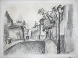 Rue Norvins à Montmartre