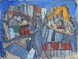 #251 - Vue de Montmartre (huile sur papi