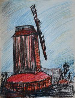 Le moulin rouge et noir
