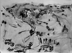 #264 -  Paysage – encre de chine – 50x64