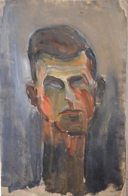 #284 – Portrait d'un homme – huile sur p