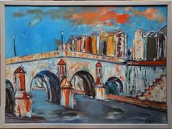 #117 – Le pont – 54x73 - 1947