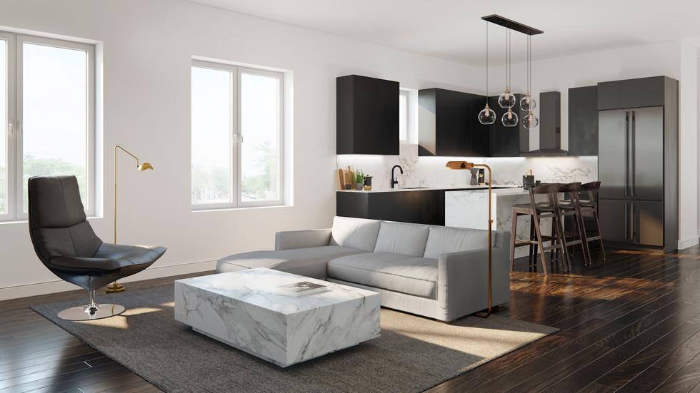 Unit 100 Family room & Kitchen.jpg