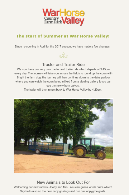 Subscribe to the War Horse Valley newsletter!
