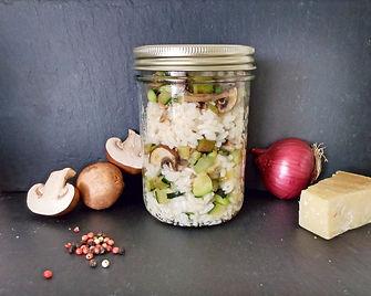Risotto de légumes bio, local et consigné