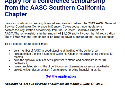 Apply for a conference scholarship