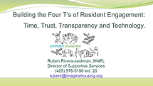 Building the Four T's of Resident Engage