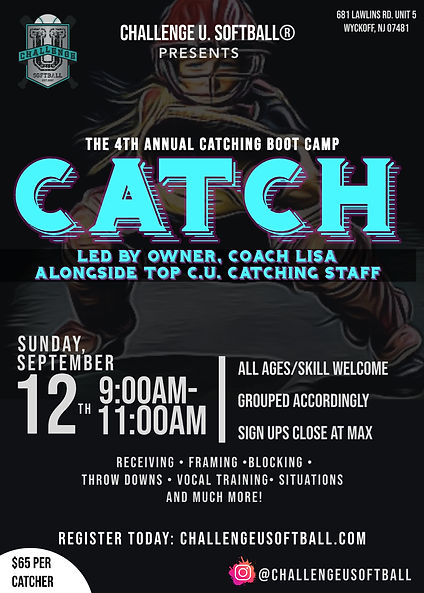 CU Catch September 2021 Catching Clinic.