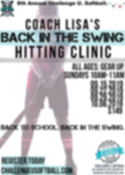 September 2019 Hitting Clinic Lisa Rizzo