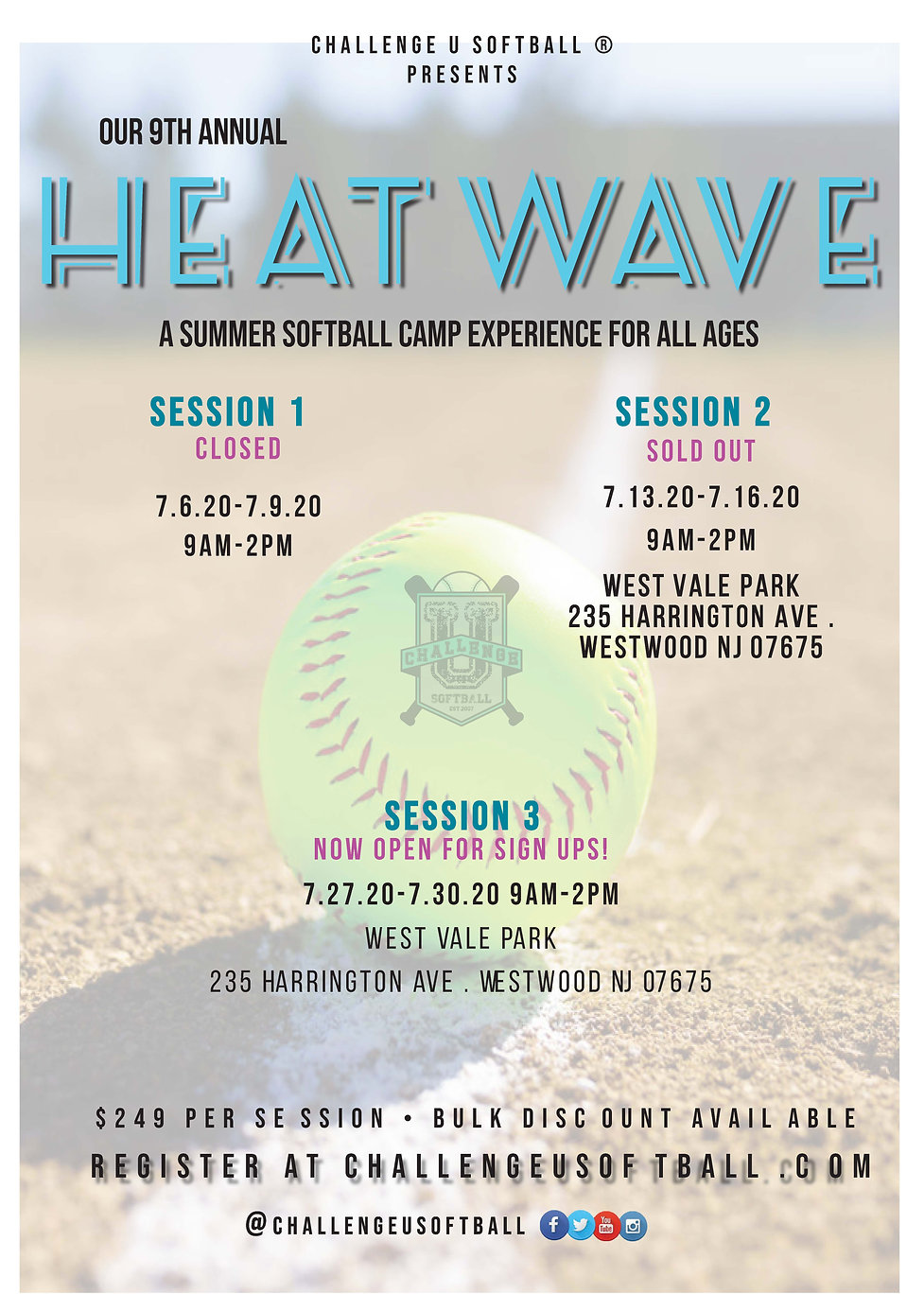 CU Session 3 2020 Summer Softball Camp H