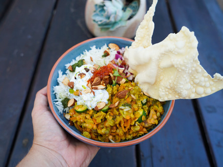 Red Lentil and Roasted Aubergine Curry
