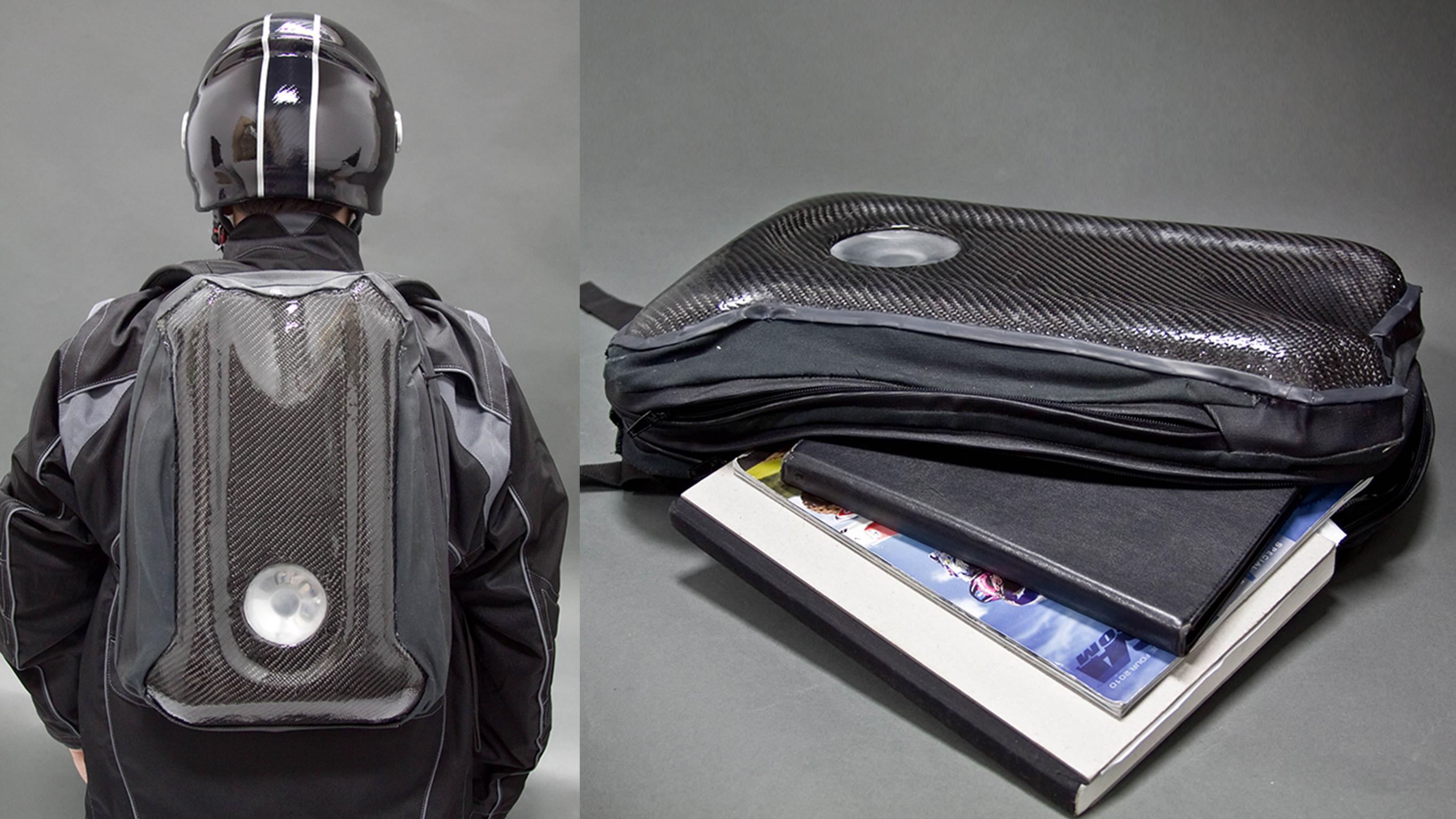 Carbon Fiber Motorcycle Bag
