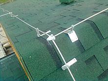 система блискавковідводів даху житлового