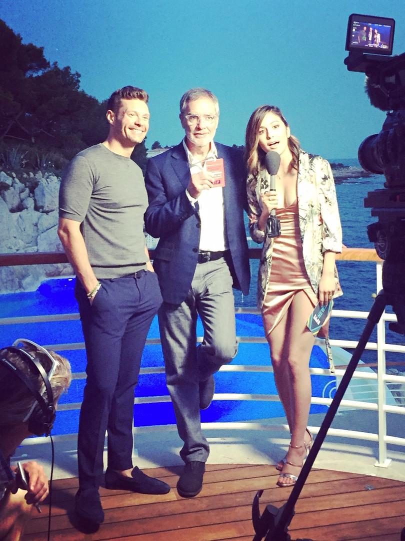 Erin Lim pour E! Entertainment au Lion Cannes Video