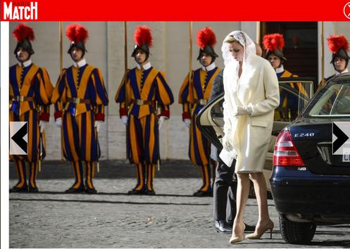 SAS Princesse Charlene - Rencontre avec Pape Francois 2016