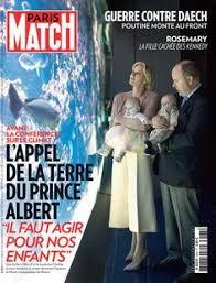 SAS Princesse Charlene - Couverture de Paris Match 2015