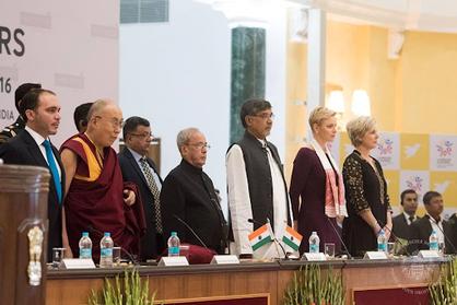 SAS Princesse Charlene - Inde 2016 conférence avec le Dalai Lama