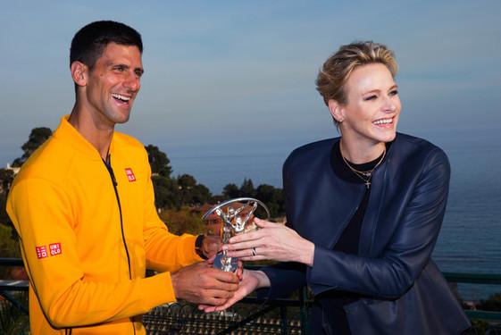 SAS Princesse Charlene et Novak Djokovic