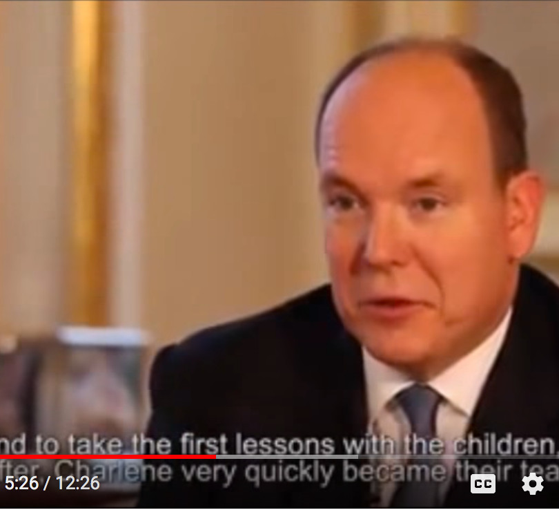 Interview televisee de SAS Prince Albert et Princesse Charlene