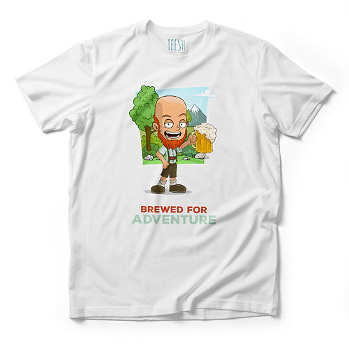 T- Shirt , Brewed for adventure
