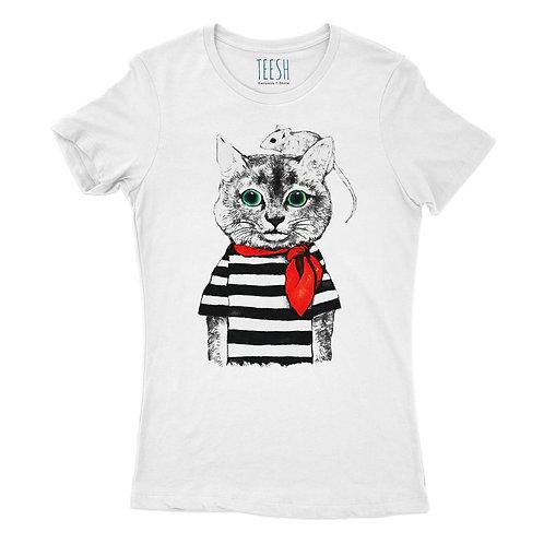 T- Shirt , Gatto marinaio
