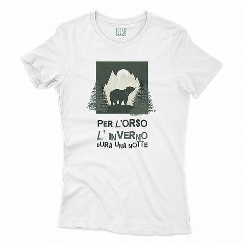 T- Shirt , Per l' orso l'inverno