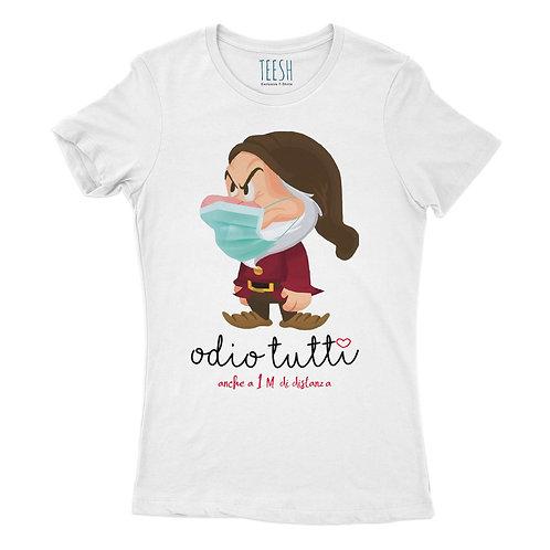 T- Shirt , Odio tutti anche a 1 metro!