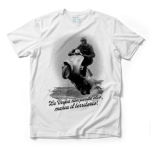 T- Shirt , La vespa non perde olio