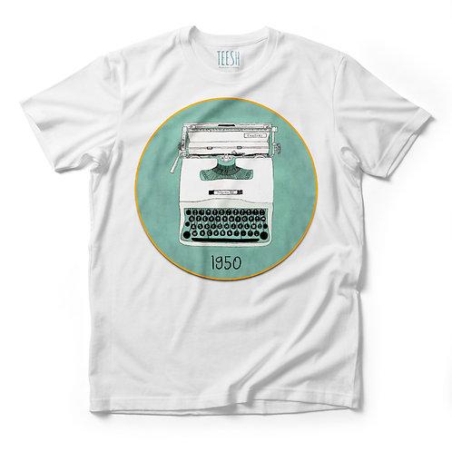 T- Shirt , Macchina da scrivere 1950