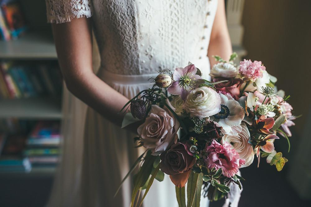 Spring Bridal Bouquet, Hampton Court House, Richmond, London
