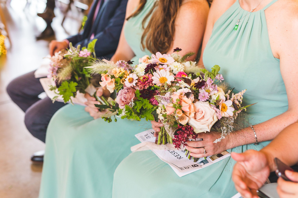 Colourful Summer Wedding Flowers, Trinity Buoy Wharf, London