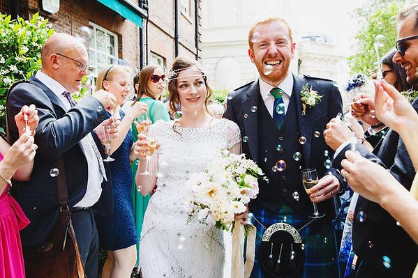Summery bridal bouquet, London wedding