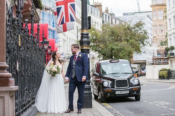 Autumn bridal bouquet, London wedding flowers
