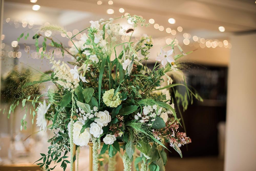 Natural Wedding Flowers, The Bingham, Richmond, London