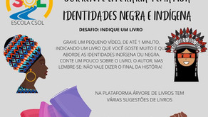 Corrente Literária Temática – Identidades Negra e Indígena.