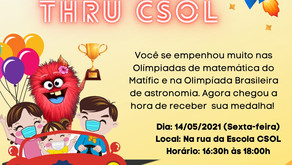 Olimpíadas Matific e e Drive-Thru de Medalhas CSOL
