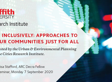 Planning Inclusively: Approaches to making out communities just for all
